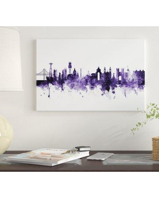 """East Urban Home 'Lisbon Portugal Skyline' by Michael Tompsett Graphic Art Print on Wrapped Canvas EUME4831 Size: 26"""" x 40"""" x 0.75"""""""