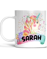 Colorful Kids Unicorn Cup, Customized with Child's Name, Lightweight Unbreakable Cup, Microwave and Dishwasher Safe, BPA Free