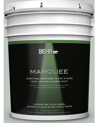 BEHR MARQUEE 5 gal. #N420-2 Mountain Falls Semi-Gloss Enamel Exterior Paint and Primer in One