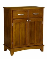 Home Styles Buffet of Buffet with Wood Top - Open Brown