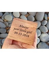 Custom engraved music box with Always your little girl carved on top along with your special date, great gift for mom or dad or daughter