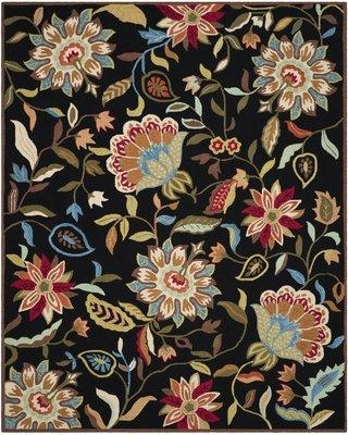Charlton Home Childers Hand-Hooked Black/Purple Indoor/Outdoor Area Rug CHLH2753 Rug Size: Rectangle 8' x 10'