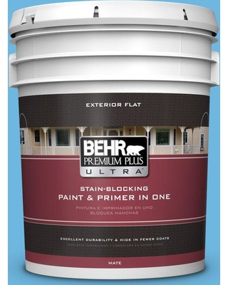 BEHR Premium Plus Ultra 5 gal. #P500-4 Life Force Flat Exterior Paint and Primer in One