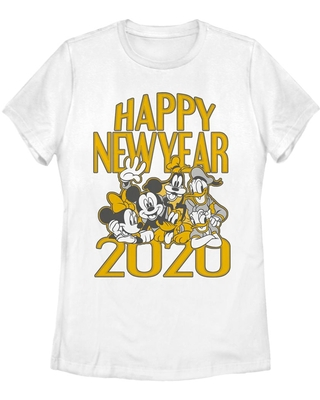 Disney Mickey Mouse Fab Five New Year Womens T-Shirt