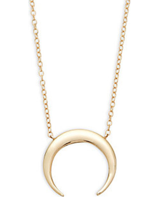 16bfbb9f31b62a Can't Miss Deals on 14K Gold Half-Moon Pendant Necklace