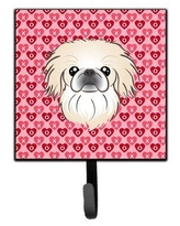 Check Out Deals On The Holiday Aisle Brister Chocolate Labrador Hearts Wall Key Organizer W Key Hooks Dog Breed Pekingese Finish Brown Beige Blue Metal Wayfair