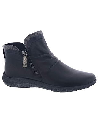Cobb Hill womens Amalie Side Zip Ankle Boot, Black, 6.5 US