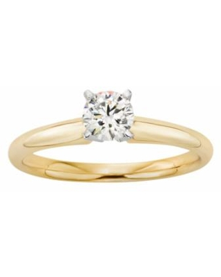 18k Gold 1/2-ct. T.W. IGL Certified Colorless Diamond Solitaire Ring, Women's, White