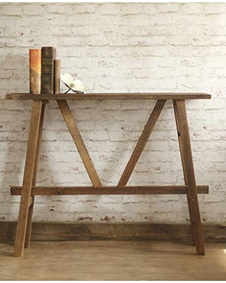 Reclaimed wood sofa table console