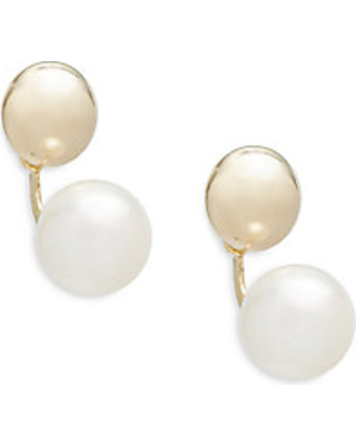 a0c5bde24 Find the Best Deals on 7MM White Ball Freshwater Pearl & 14K Yellow ...