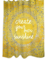 Oliver Gal Your Own Sunshine Shower Curtain 14364.shower_OS_POL