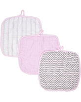 Miracle Baby Boys and Girls Muslin Washcloths - Pack of 3