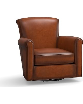 Pleasant Special Prices On Irving Leather Swivel Armchair Polyester Caraccident5 Cool Chair Designs And Ideas Caraccident5Info
