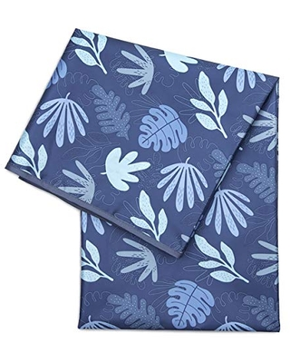 Bumkins Splat Mat, Waterproof, Washable for Floor or Table, Under Highchairs, Art, Crafts, Playtime 42x42, Blue Tropic