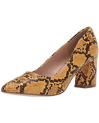 Penny Loves Kenny Women's Print Pump, yellow faux Snake, 11 US wide