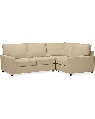 PB Comfort Square Arm Upholstered SectionalLeft arm 3 Piece Corner SectionalEverydaySuedeLight WheatUpholsteredDown Blend