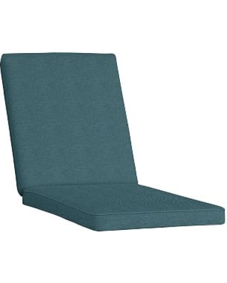 """Replacement 26"""" X 82"""" Double-Piped Chaise Cushion, Sunbrella(R) Lagoon"""