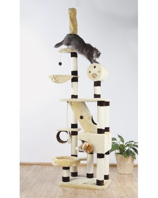 TRIXIE Belorado Adjustable Plush Cat Tree (Belorado Adjustable Cat Tree)