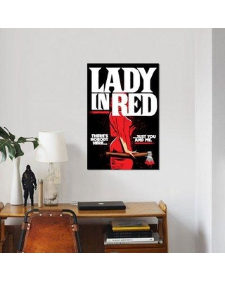 """East Urban Home 'Lady' Graphic Art Print on Canvas ERBR0553 Size: 18"""" H x 12"""" W x 0.75"""" D"""