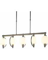 "Hubbardton Forge Pluto 42""W Opal Glass 5-Light Pendant"