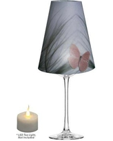 """Winston Porter Pink Butterfly on Beach Grass Vellum Party 5"""" Empire Lamp Shade WNSP1240"""