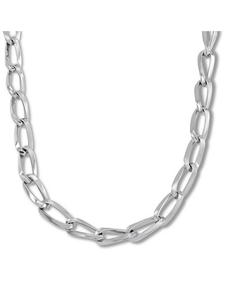Twisted Oval Link Necklace Sterling Silver