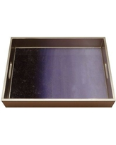 Everly Quinn Korte Ombre Reverse Painted Mirror Serving Tray BI012357