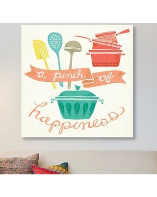 "East Urban Home 'A Pinch of Happiness' Graphic Art Print on Canvas ESUR2090 Size: 26"" H x 26"" W x 1.5"" D"