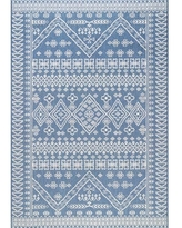 """The Curated Nomad Delmar Tribal Floral Diamonds Area Rug (7' 6"""" x 10' 9"""" - Blue)"""