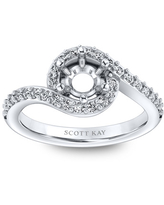 Scott Kay Diamond Ring Setting 3/8 ct tw 14K White Gold