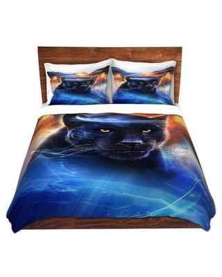 East Urban Home Panther Duvet Cover Set W000371408 Size: 1 Queen Duvet Cover + 2 Standard Shams