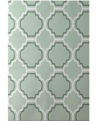 e by design Road to Morocco Geometric Print Green Pint Indoor/Outdoor Area Rug RGN239GR16GR15 Rug Size: Rectangle 3' x 5'