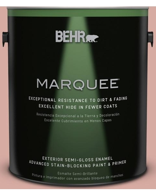 BEHR MARQUEE 1 gal. #T17-06 Everythings Rosy Semi-Gloss Enamel Exterior Paint and Primer in One