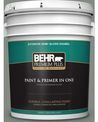 BEHR Premium Plus 5 gal. #710F-5 Valley Hills Semi-Gloss Enamel Exterior Paint and Primer in One