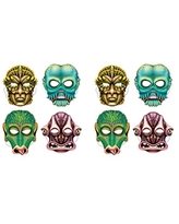 Beistle 00338 2Piece Day of The Dead Masks Multicolored