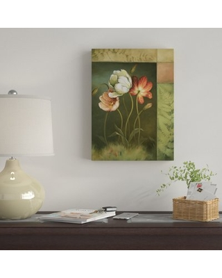 """'Contemporary Tulips' Acrylic Painting Print on Wrapped Canvas East Urban Home Size: 32"""" H x 24"""" W"""
