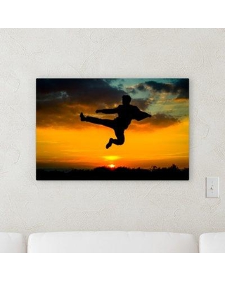 """Ebern Designs 'All in Motion' Photographic Print on Wrapped Canvas BI066327 Size: 10"""" H x 15"""" W x 2"""" D"""