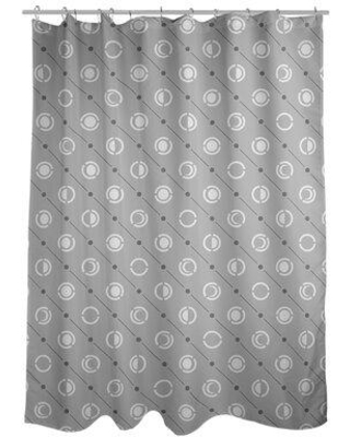 ArtVerse Noira Gothard Classic Moon Phases Single Shower Curtain GOT0-SCDGSC Color: Black Accent