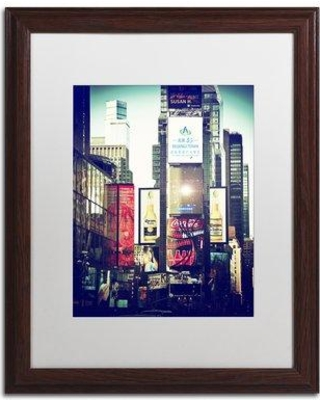 """Trademark Art """"Times Square"""" by Philippe Hugonnard Framed Photographic Print PH0232-W1114MF / PH0232-W1620MF Size: 20"""" H x 16"""" W x 0.5"""" D"""