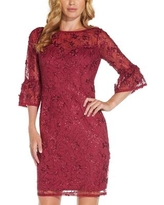 Adrianna Papell Embellished Sheath Dress - Red