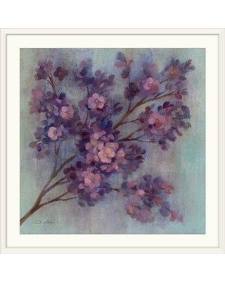 """Great Big Canvas 'Twilight Cherry Blossoms I' by Silvia Vassileva Painting Print 1166637 Size: 20"""" H x 20"""" W x 1"""" D Format: White Framed"""