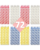 Birthday Candles 72 Pack - Cake Decorations (Multi-Color)
