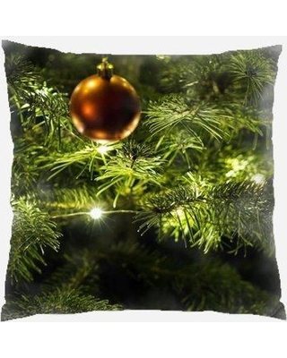 Discover Deals On The Holiday Aisle Lanagan Christmas Indoor Outdoor Canvas Throw Pillow Polyester Polyfill In Green Size 18x18 Wayfair