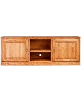 Forest Designs Solid Wood TV Stand for TVs up to 65 inches B4133- Color: Golden Oak