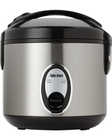 Aroma 8 Cup Rice Cooker - Stainless Steel (Silver) Arc-904SB