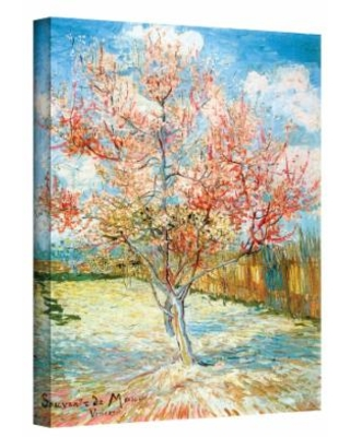 """""""18'' x 14'' """"Peach Tree in Bloom"""" Canvas Wall Art by Vincent van Gogh, Small"""""""