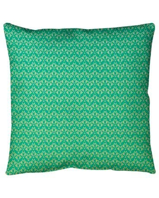 """Ebern Designs Leffel Art Deco Floor Pillow, Polyester/Polyfill/Synthetic in Green/Yellow Ombre, Size 40"""" x 40""""   Wayfair"""