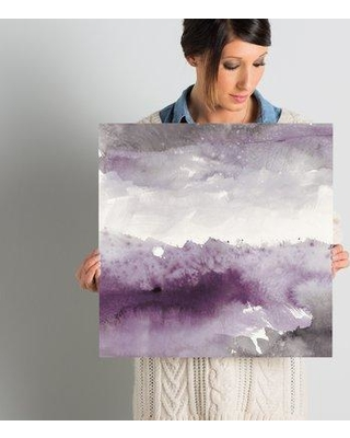 """Wrought Studio 'Midnight at The Lake II' Painting Print on Wrapped Canvas W000438291 Size: 18"""" H x 18"""" W x 0.75"""" D"""