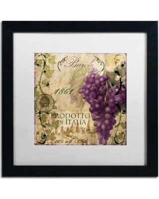 """Trademark Fine Art 'Vino Italiano II' by Color Bakery Framed Vintage Advertisement ALI4164-B1 Mat Color: White Size: 16"""" H x 16"""" W x 0.5"""" D"""