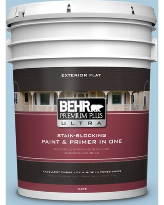 BEHR Premium Plus Ultra 5 gal. #M500-2 Early September Flat Exterior Paint and Primer in One